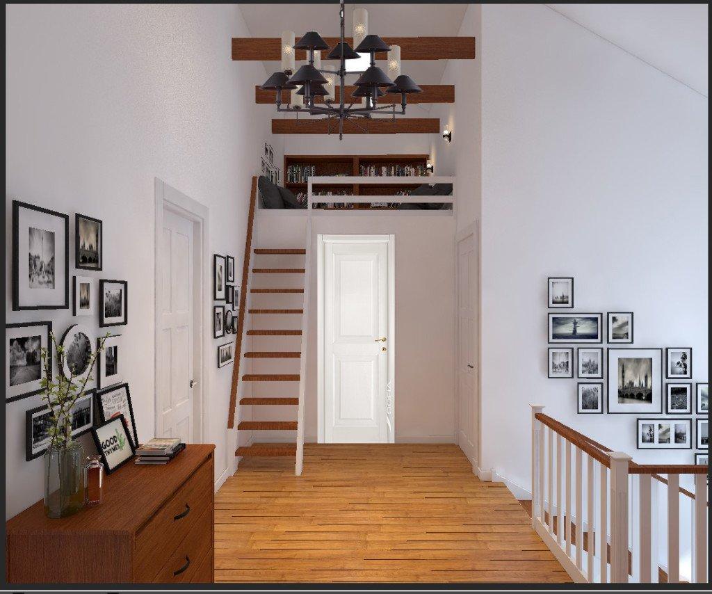 Лестница2 этаж холл