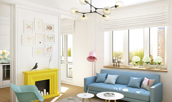 Интерьер женской квартиры: стильный интерьер на Вернадского