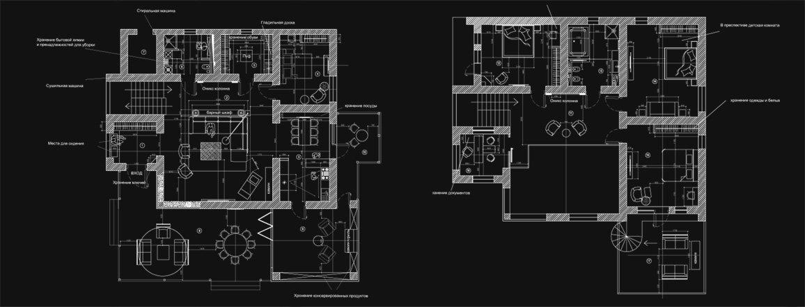 Проектная схема дизайна интерьера