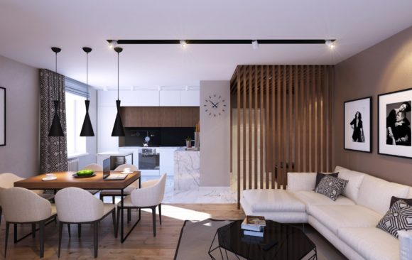 The apartment on Bogatyrskiy
