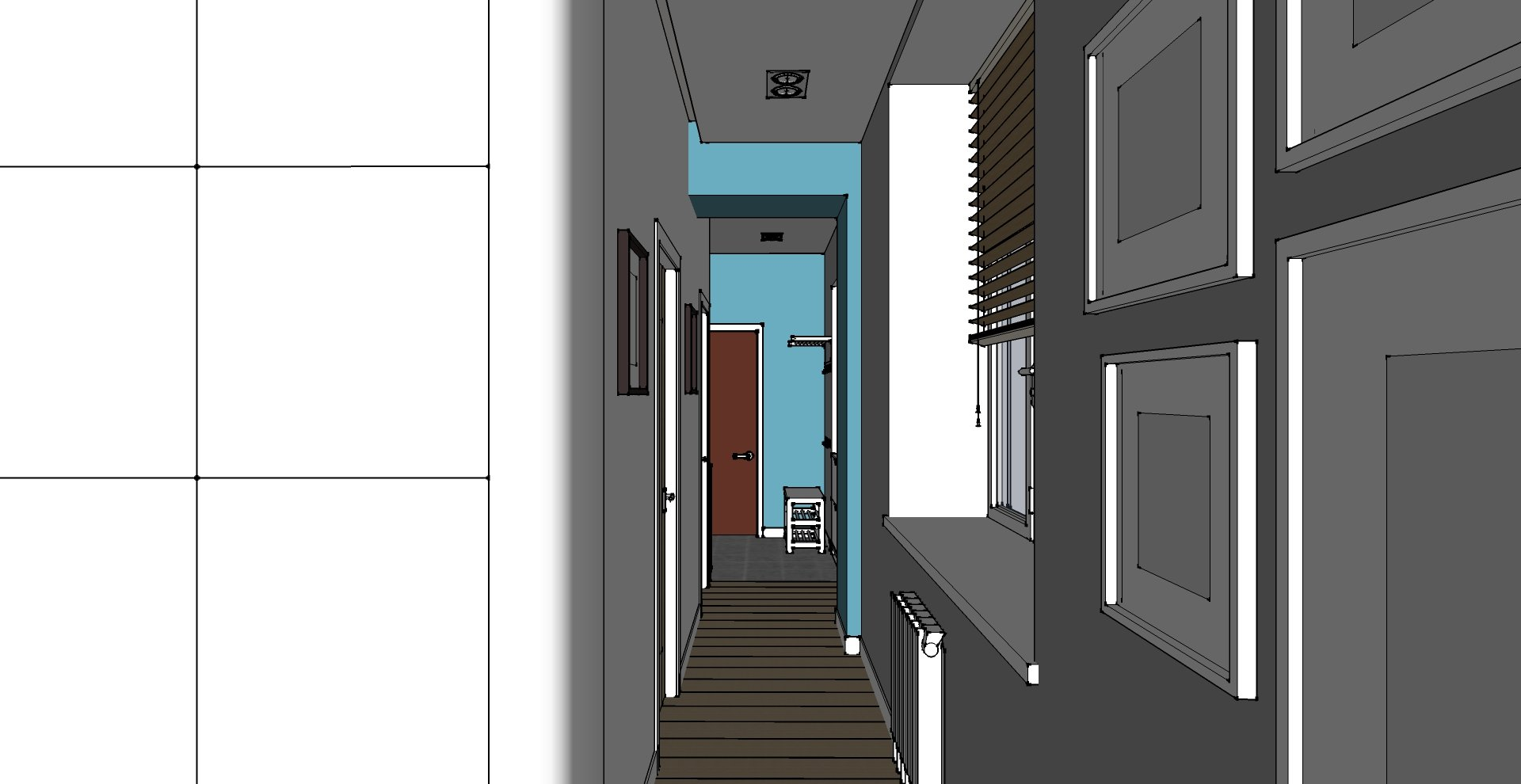 коридор - гостиная