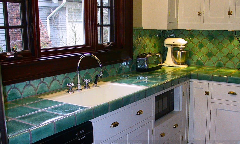 Ceramic tile in kitchen