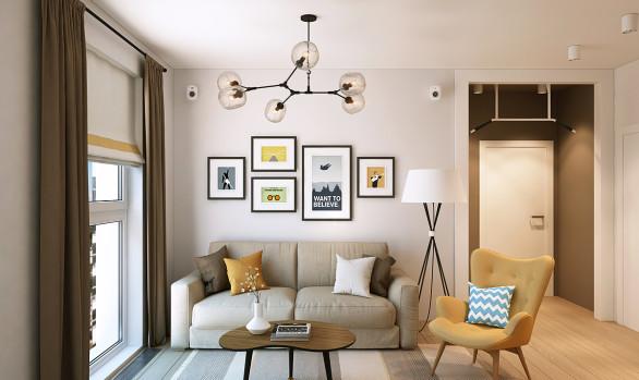 Дизайн квартиры для молодой семьи: Акварели