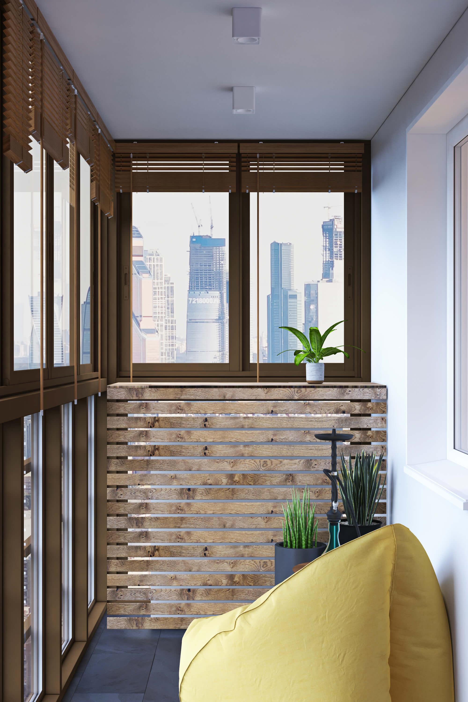 Кальянная зона на балконе