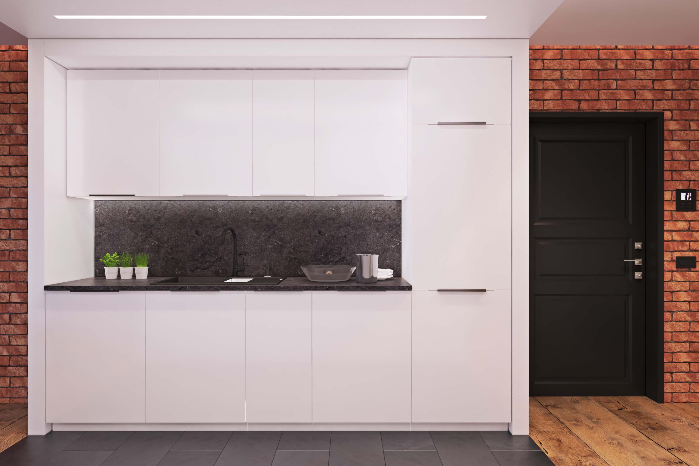 Дизайн черно-белой кухни в современном стиле