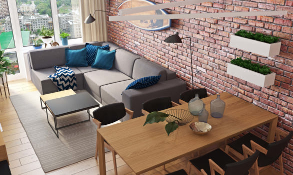 Современная квартира для семьи: проект Арт