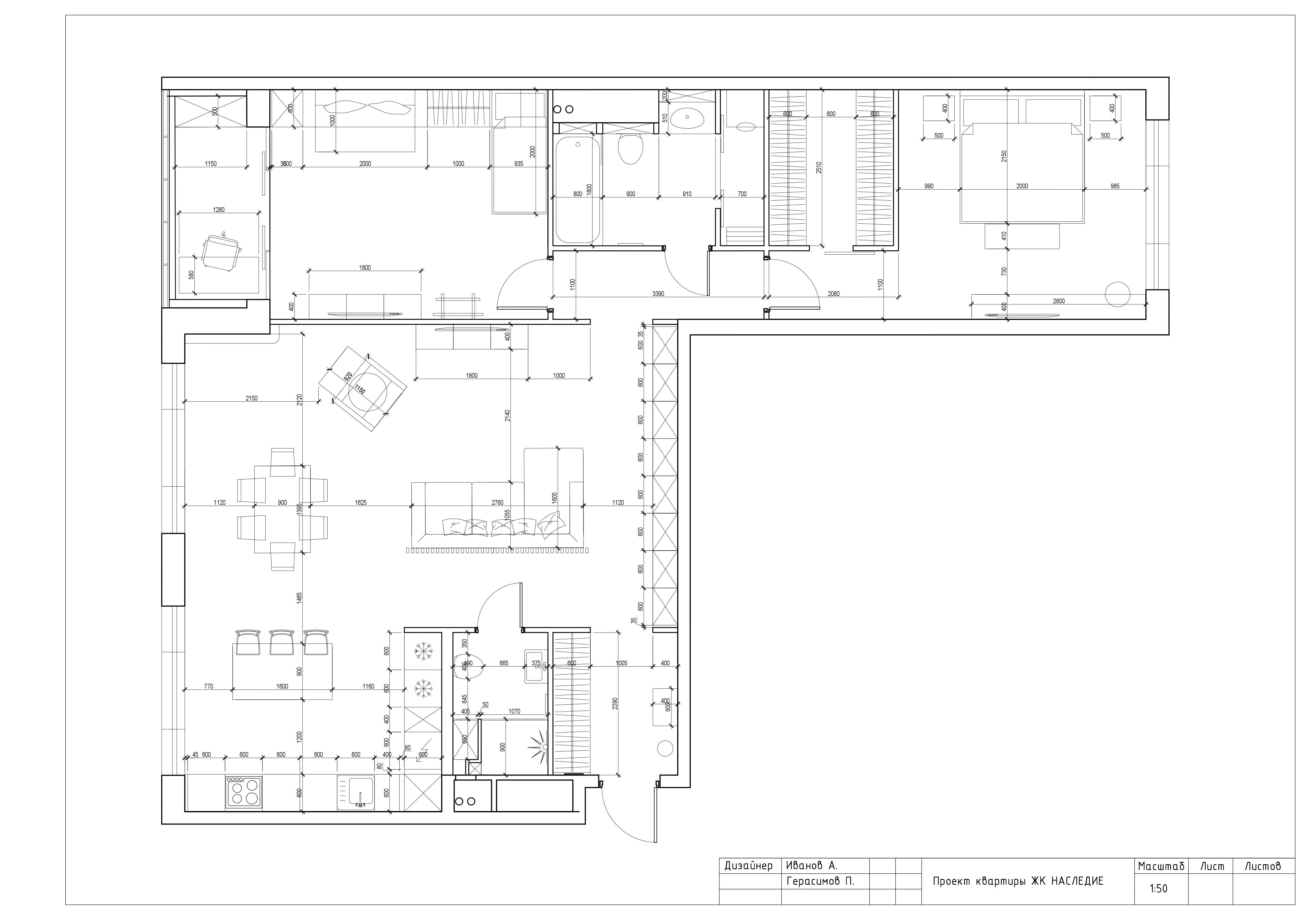 Техническое задание для дизайн проекта квартиры