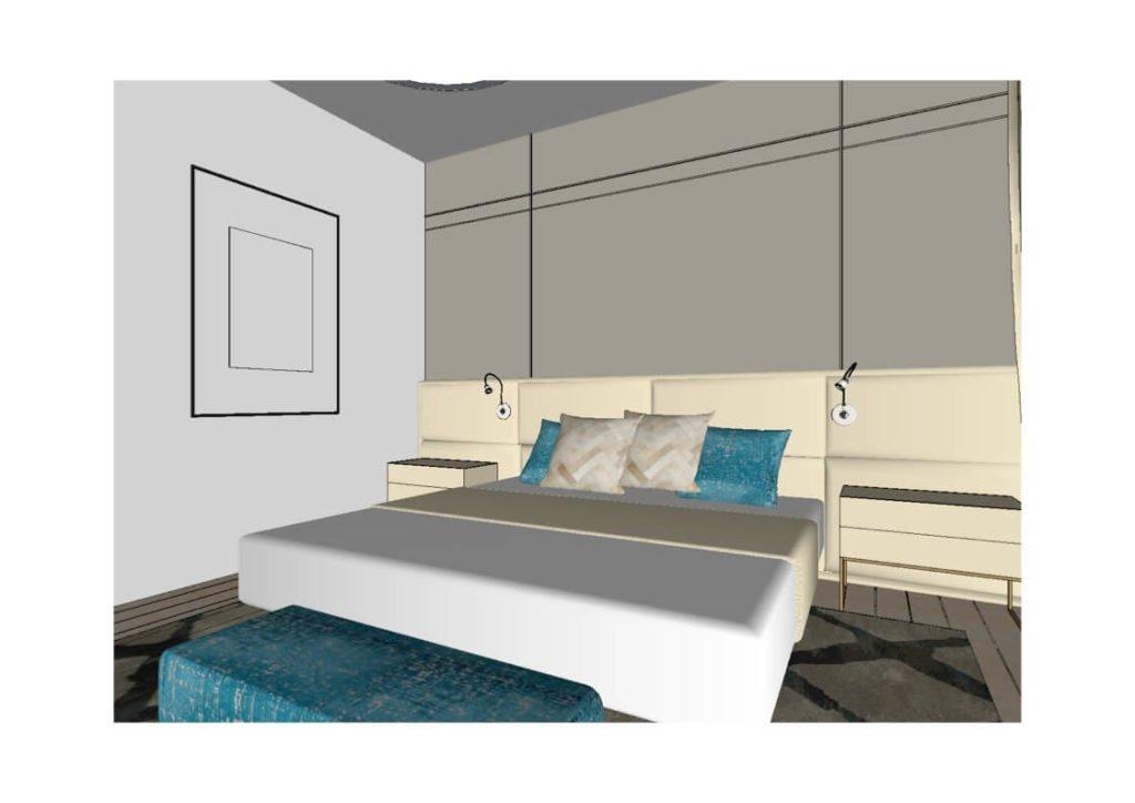 эскиз спальной комнаты