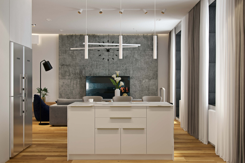 планировка кухни geometrium
