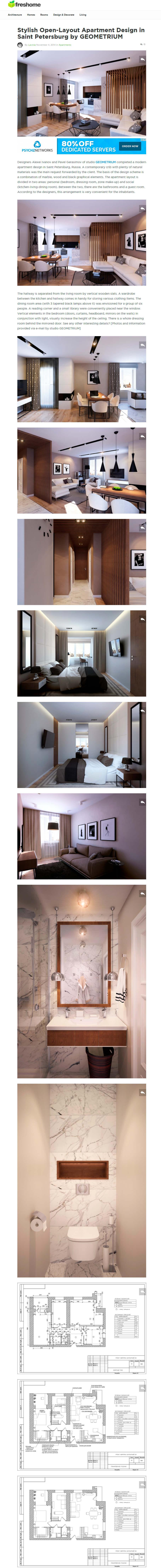 Дизайн-проект «Квартира на Богатырском» опубликован на зарубежном ...
