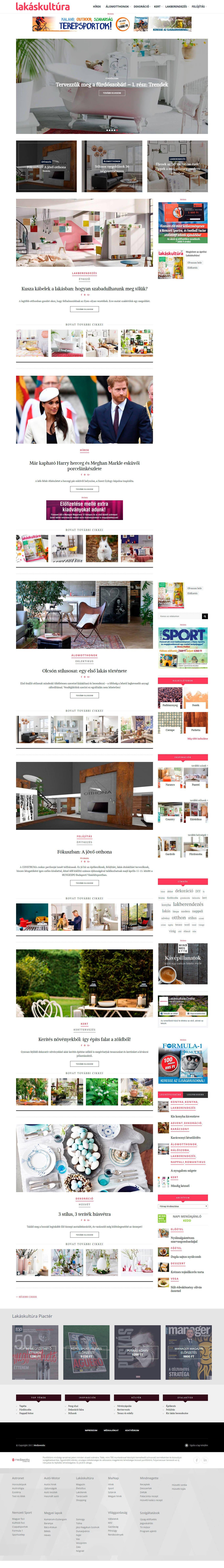 """Дизайн-проект """"Филиград"""" на главной странице венгерского портала lakaskultura"""