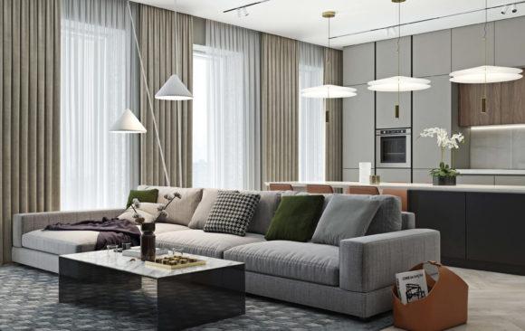 Квартира для спецпроекта от РБК и Экспостроя на Нахимовском
