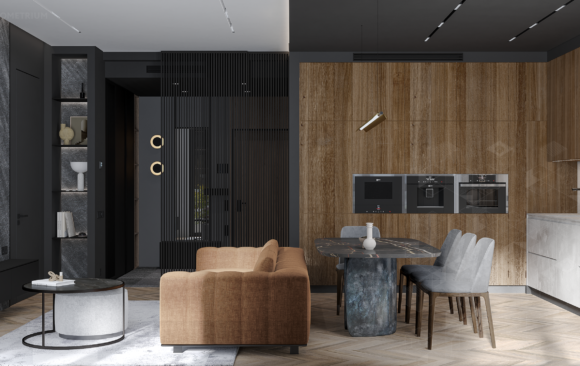 ЖК Династия - дизайнерский ремонт трёхкомнатной квартиры